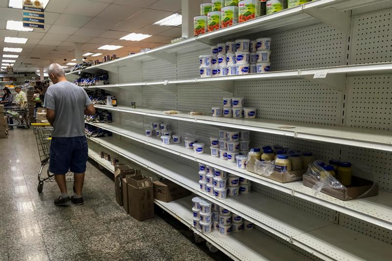 Venezuela produces only 30% of the food needed to maintain its population